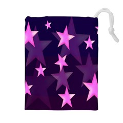 Background With A Stars Drawstring Pouches (extra Large)
