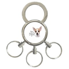 Chihuahua 3-Ring Key Chains