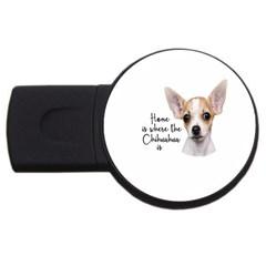 Chihuahua USB Flash Drive Round (2 GB)