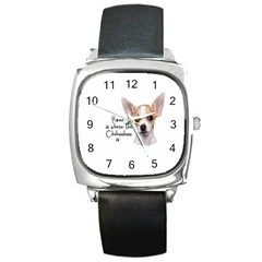 Chihuahua Square Metal Watch