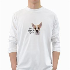 Chihuahua White Long Sleeve T-Shirts