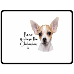 Chihuahua Fleece Blanket (Large)