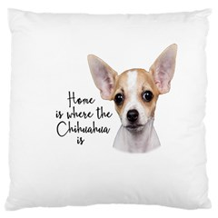 Chihuahua Large Cushion Case (One Side)