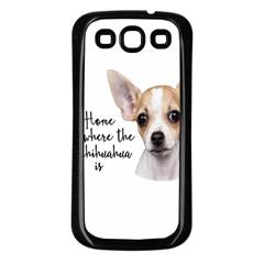 Chihuahua Samsung Galaxy S3 Back Case (Black)