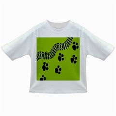 Green Prints Next To Track Infant/toddler T Shirts