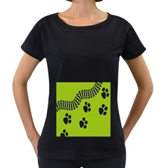 Green Prints Next To Track Women s Loose Fit T Shirt (black)