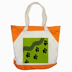 Green Prints Next To Track Accent Tote Bag