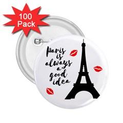 Paris 2.25  Buttons (100 pack)