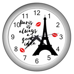 Paris Wall Clocks (Silver)