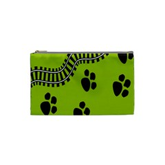 Green Prints Next To Track Cosmetic Bag (Small)