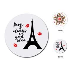 Paris Playing Cards (Round)