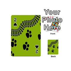 Green Prints Next To Track Playing Cards 54 (Mini)