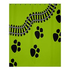 Green Prints Next To Track Shower Curtain 60  x 72  (Medium)