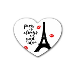 Paris Rubber Coaster (Heart)