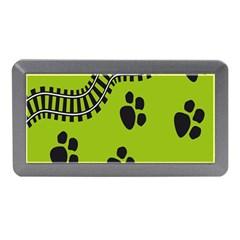 Green Prints Next To Track Memory Card Reader (Mini)
