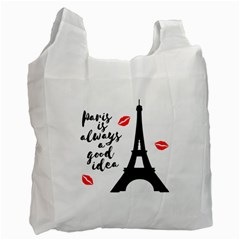 Paris Recycle Bag (One Side)
