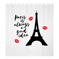 Paris Shower Curtain 66  x 72  (Large)