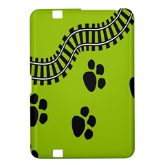 Green Prints Next To Track Kindle Fire Hd 8 9