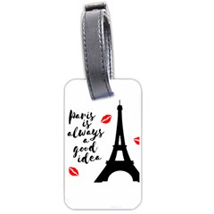 Paris Luggage Tags (One Side)