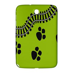 Green Prints Next To Track Samsung Galaxy Note 8 0 N5100 Hardshell Case