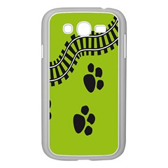 Green Prints Next To Track Samsung Galaxy Grand Duos I9082 Case (white)