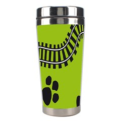 Green Prints Next To Track Stainless Steel Travel Tumblers