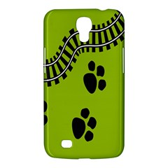Green Prints Next To Track Samsung Galaxy Mega 6 3  I9200 Hardshell Case