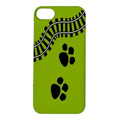 Green Prints Next To Track Apple Iphone 5s/ Se Hardshell Case