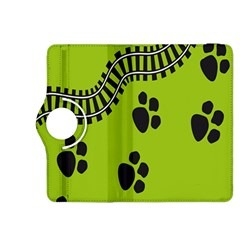 Green Prints Next To Track Kindle Fire Hdx 8 9  Flip 360 Case