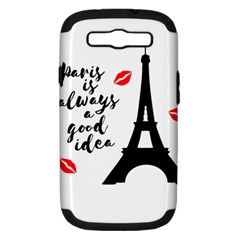 Paris Samsung Galaxy S III Hardshell Case (PC+Silicone)