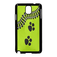 Green Prints Next To Track Samsung Galaxy Note 3 Neo Hardshell Case (black)