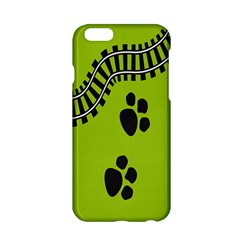 Green Prints Next To Track Apple iPhone 6/6S Hardshell Case