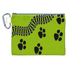Green Prints Next To Track Canvas Cosmetic Bag (xxl)