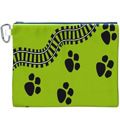 Green Prints Next To Track Canvas Cosmetic Bag (xxxl)