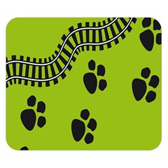 Green Prints Next To Track Double Sided Flano Blanket (small)