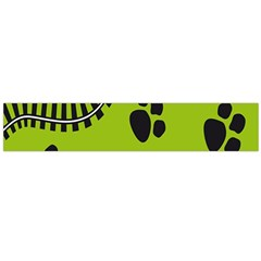 Green Prints Next To Track Flano Scarf (large)