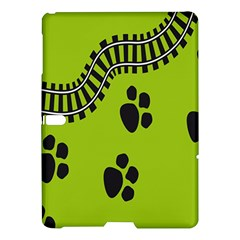 Green Prints Next To Track Samsung Galaxy Tab S (10.5 ) Hardshell Case