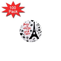 Paris 1  Mini Magnets (100 Pack)
