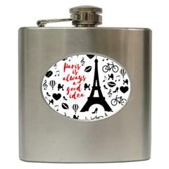 Paris Hip Flask (6 oz)