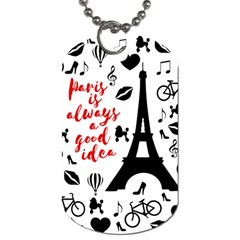 Paris Dog Tag (Two Sides)
