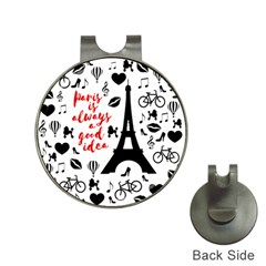 Paris Hat Clips with Golf Markers
