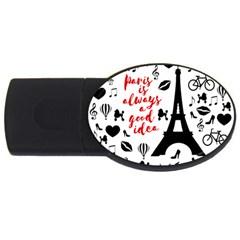 Paris USB Flash Drive Oval (4 GB)