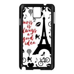 Paris Samsung Galaxy Note 3 N9005 Case (Black)