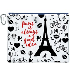 Paris Canvas Cosmetic Bag (XXXL)