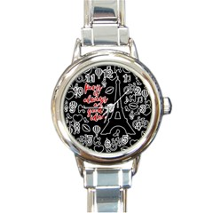 Paris Round Italian Charm Watch