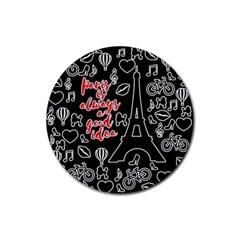 Paris Rubber Coaster (Round)