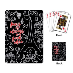 Paris Playing Card