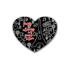 Paris Heart Coaster (4 pack)