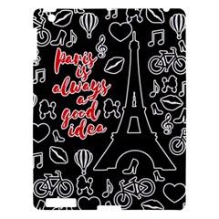 Paris Apple iPad 3/4 Hardshell Case