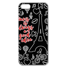 Paris Apple Seamless iPhone 5 Case (Clear)